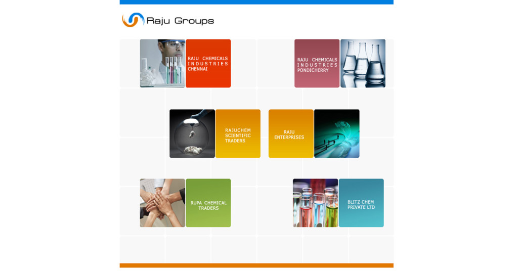 Web Design For Raju Chemicals Chennai