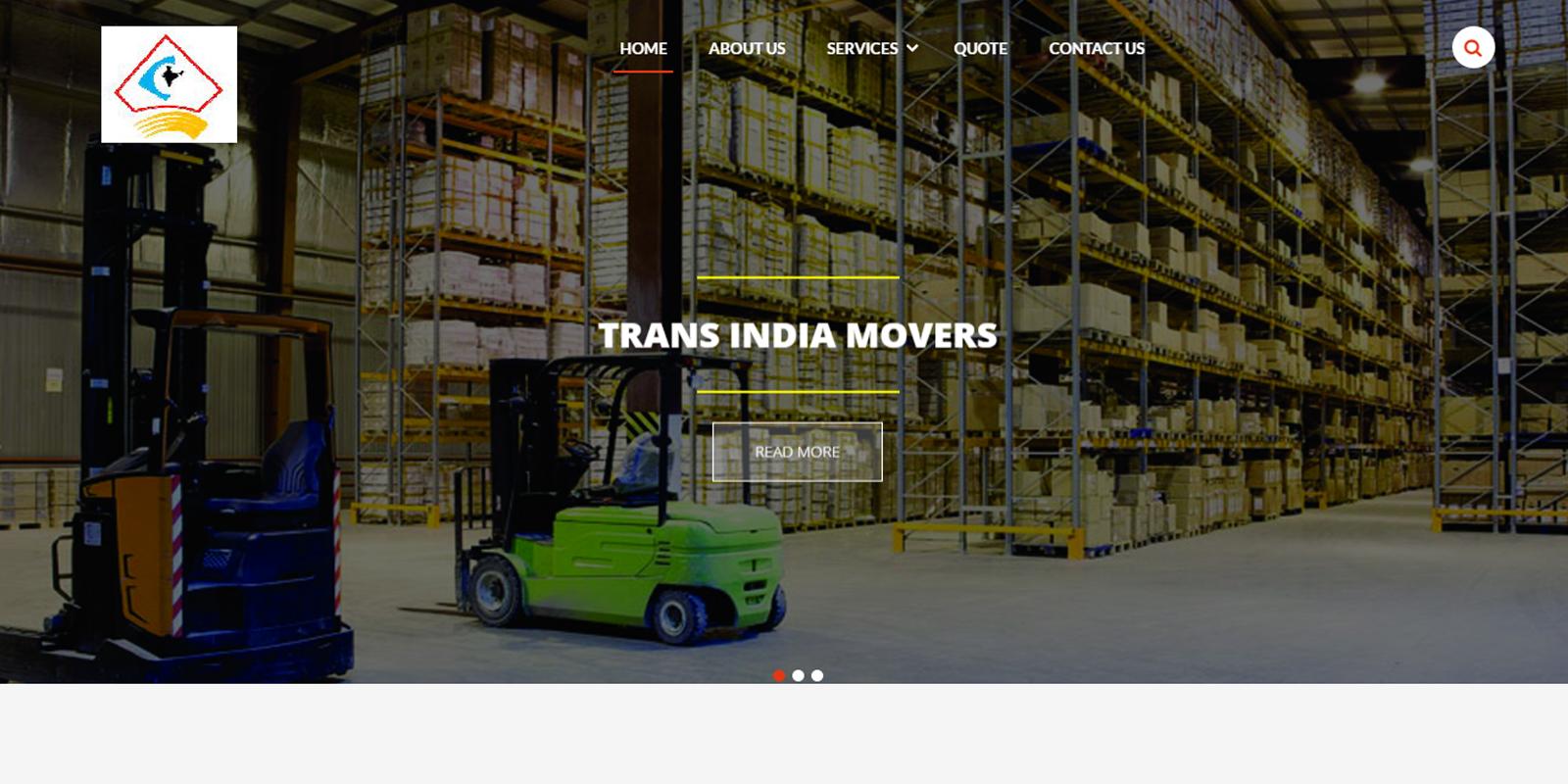 Web Design For Trans India Movers Web Designing Company Chennai India I Web Design Agency India Singapore Us Uk