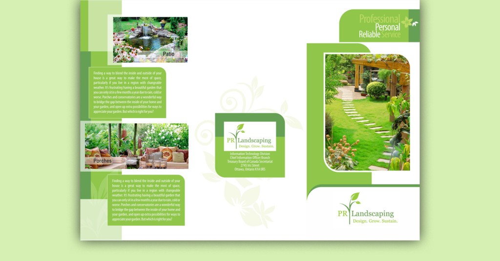 pamphlet design for pr landscaping iglodlabs
