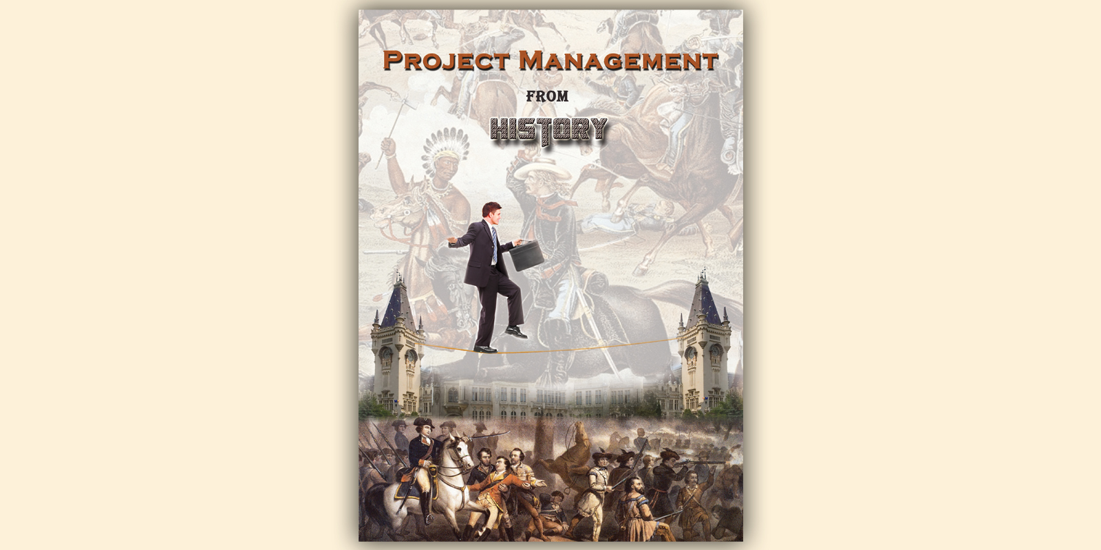 Book Cover Illustration History : Book cover design for project management from history